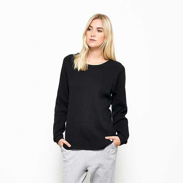 Five Each / Shoulder Panel L/S Tee - Black