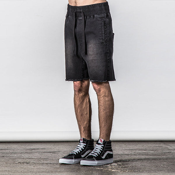 Thing Thing Steady Denim Short in Black Wash