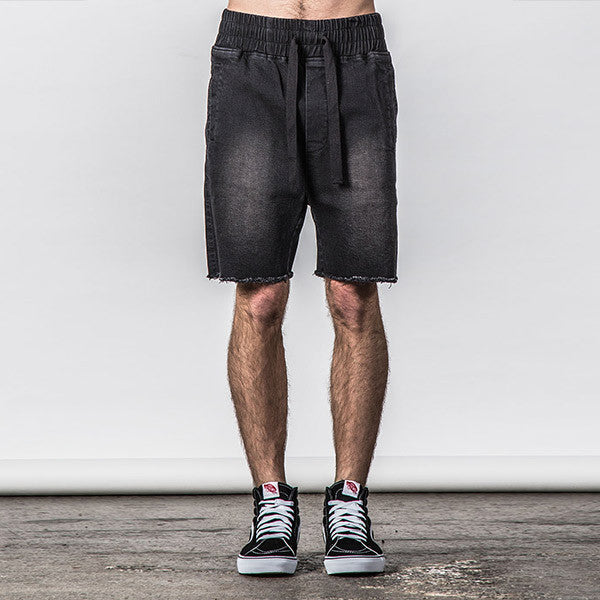 Thing Thing Steady Denim Short - Black Wash