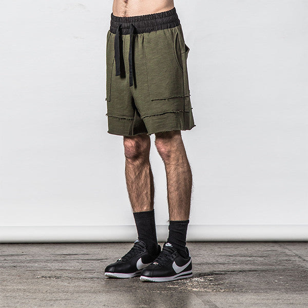 Thing Thing Raw Ronin Jersey Short in Army Slub