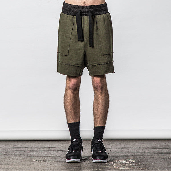 Thing Thing Raw Ronin Jersey Short - Army Slub