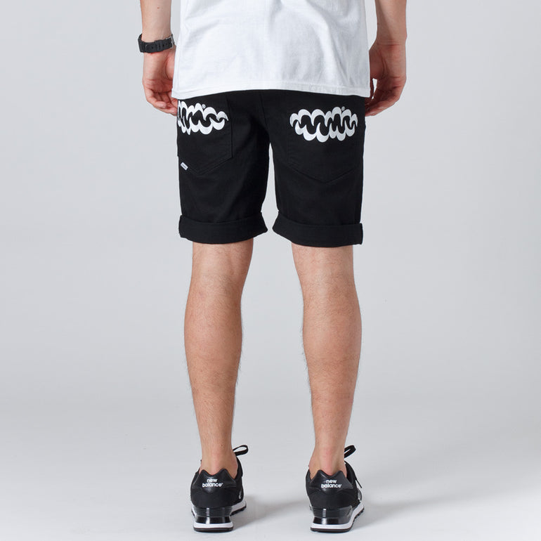 Lower Leaner Mens Shorts - Black/White