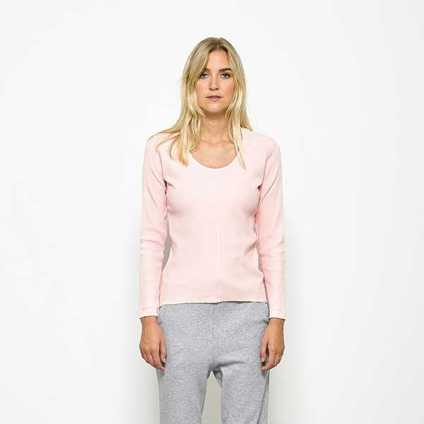 Five Each / Centre Seam L/S Tee - Pink