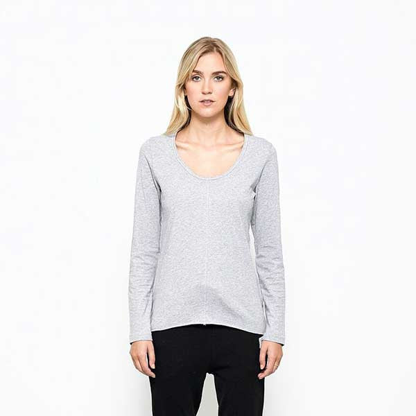 Five Each / Centre Seam L/S Tee - Grey