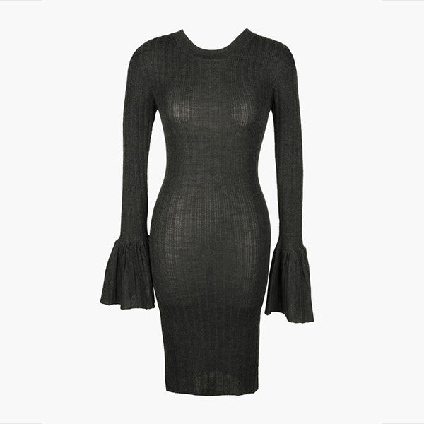 Lonely Lost Knit Dress - Soot