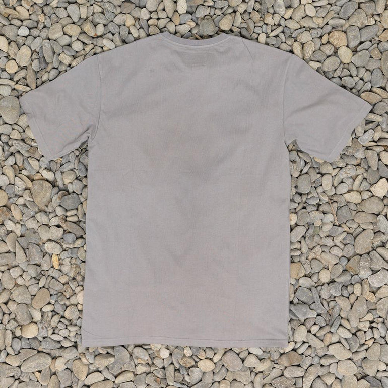 Just Another Fisherman Angled Type Logo Tee in Charcoal