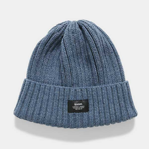 BANKS Trademrk Beanie - Heather Navy