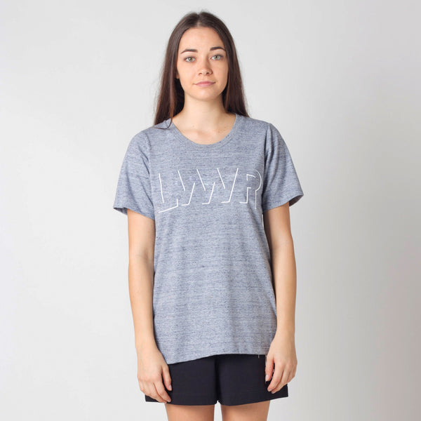 Lower Active Tee / Offset - Embroidery (Grey Marle)