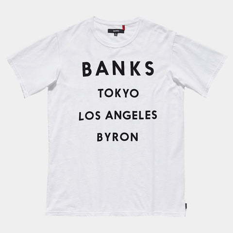 BANKS Network Tee Shirt - Off White