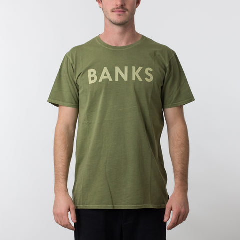 BANKS Classic Tee Shirt - Loden Green