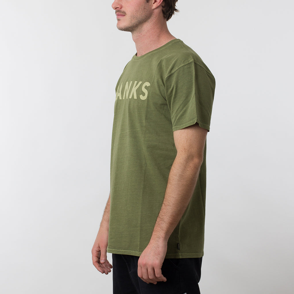 BANKS Classic Tee Shirt in Loden Green