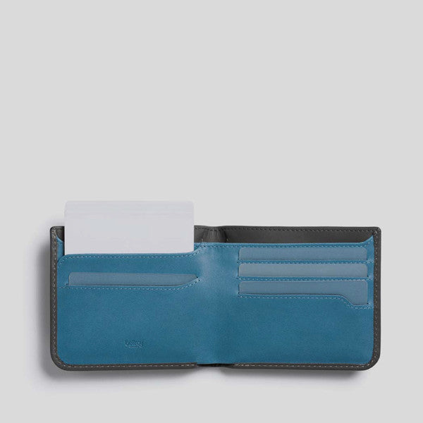 Bellroy Hide & Seek Wallet in Charcoal Arctic Blue