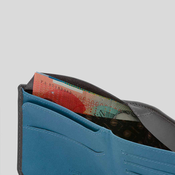 Bellroy Hide and Seek Wallet - Charcoal Arctic Blue
