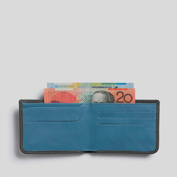 Bellroy Hide and Seek Wallet in Charcoal Arctic Blue