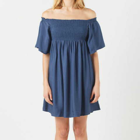 Now & Then Billie Dress - Navy