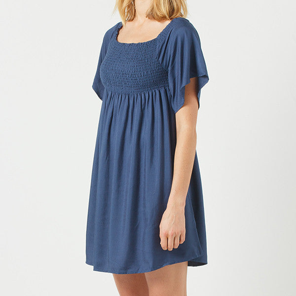 Now & Then 'Billie' Dress - Navy