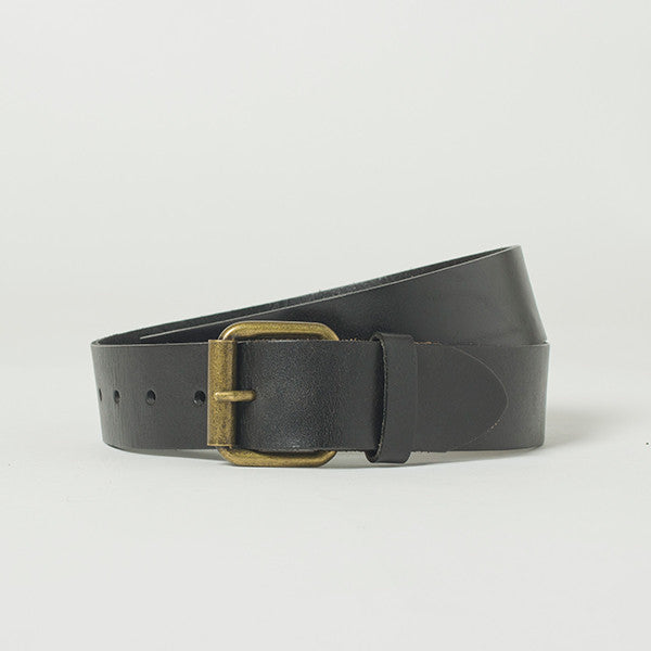 Five Each Leather Belt - Black