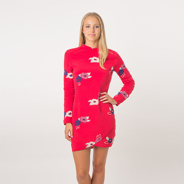 Rollas L/S Bones Dress - Redrose