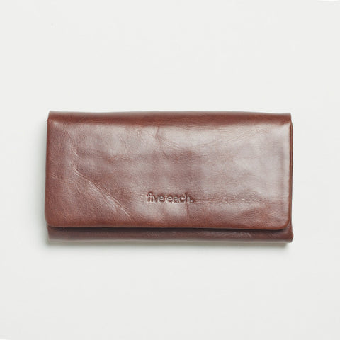Five Each Dome Wallet - Chocolate
