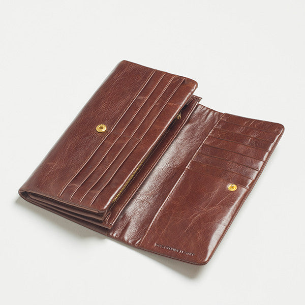 Five Each Dome Wallet in Chocolate