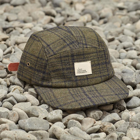 Just Another Fisherman Cabin 5 Panel Cap - Khaki Check