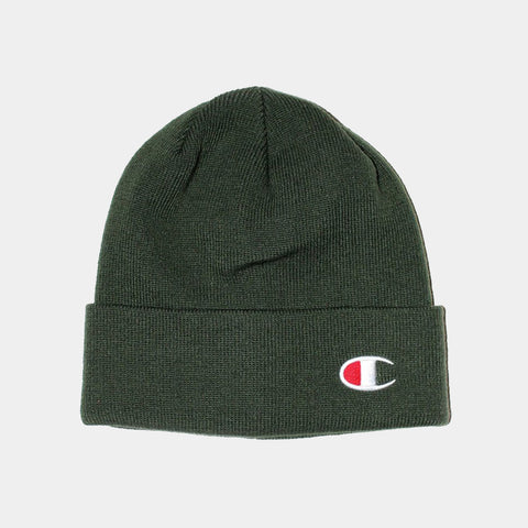 Champion C Life Logo Beanie - Dark Green
