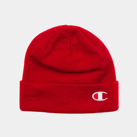 Champion C Life Logo Beanie - Red