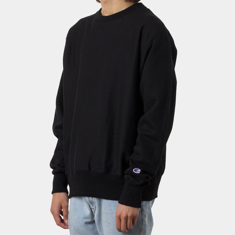 Champion Reverse Weave Crew in Black