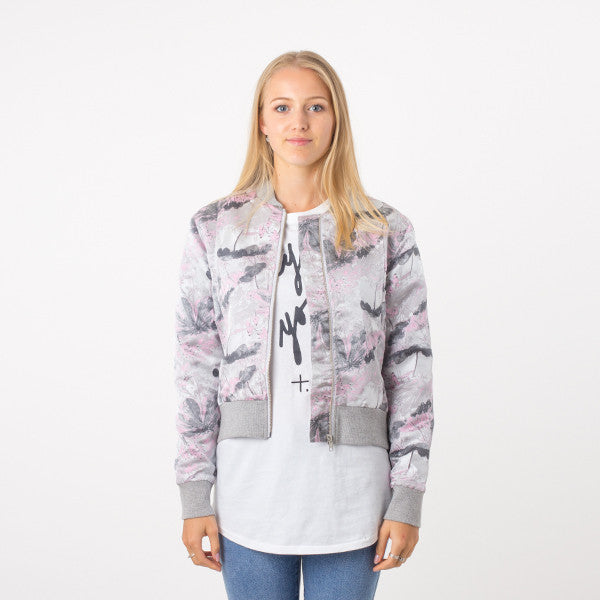 Federation Close Bomber in Grey/Pink