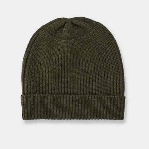 Commoners Merino Beanie - Military Green
