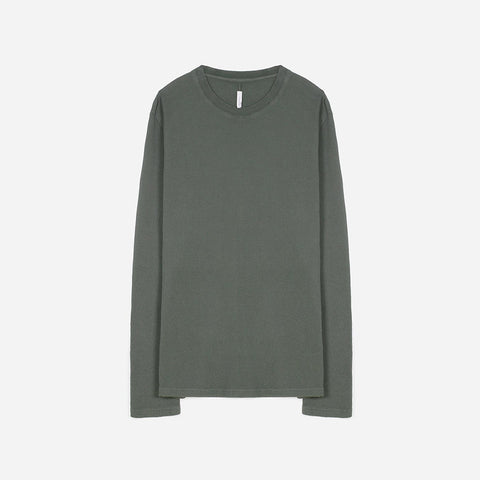 Commoners Standard L/S Tee / Waffle - Grey Green