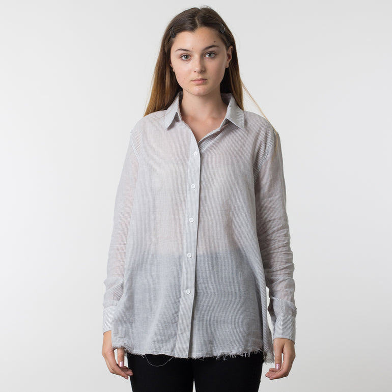 Commoners Deconstructed Boyfriend Shirt - Marle Stripe