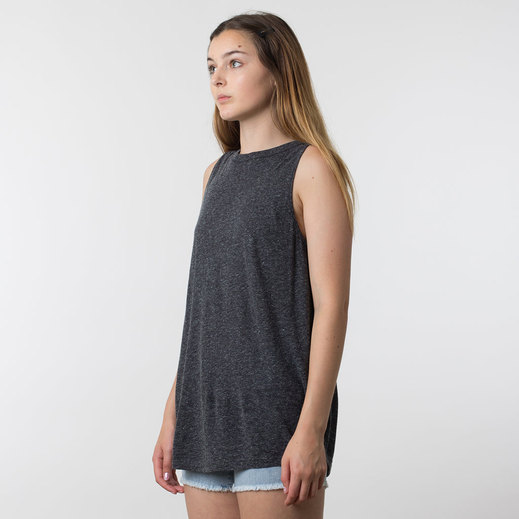Commoners Luxe Linen Tank in Concrete