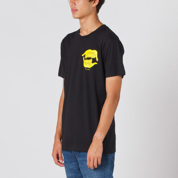 Damaged Goods Zine Shaka Tee in Black