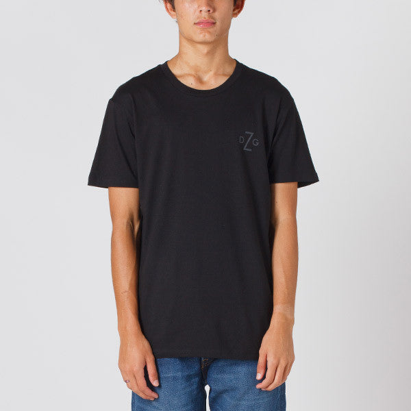 Damaged Goods Zine Barcode Tee - Black