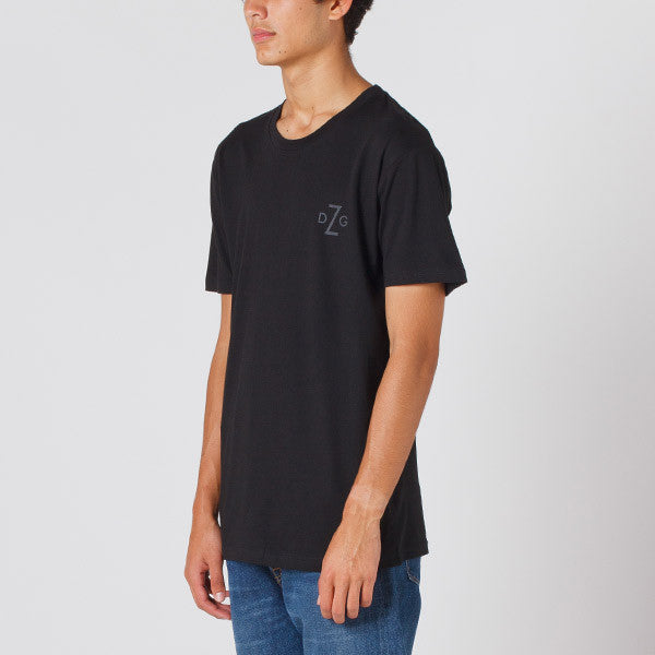 Damaged Goods Zine Barcode Tee in Black