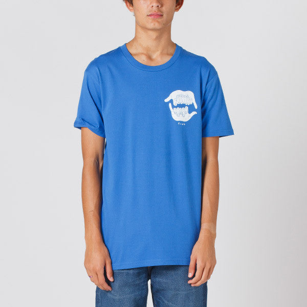 Damaged Goods Zine Shaka Tee - Blue