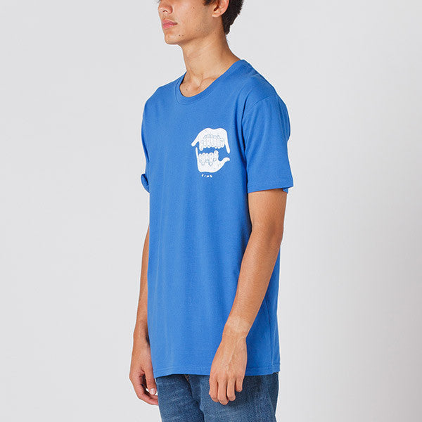 Damaged Goods Zine Shaka Tee in Blue