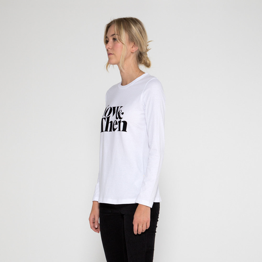 Now & Then Daily L/S Tee / Janet in White