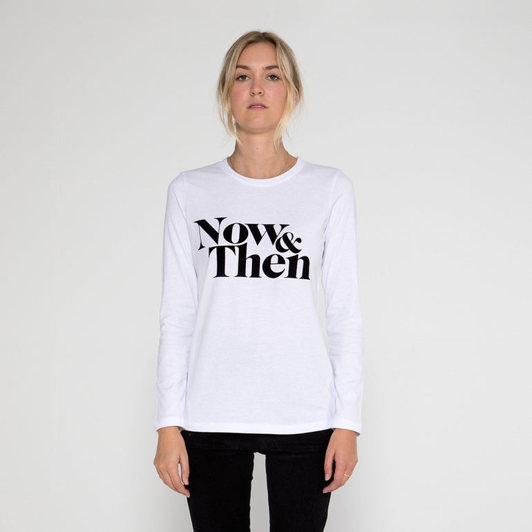 Now & Then Daily L/S Tee / Janet - White