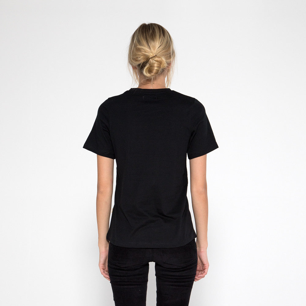 Now & Then Daily Tee / Rocky Black