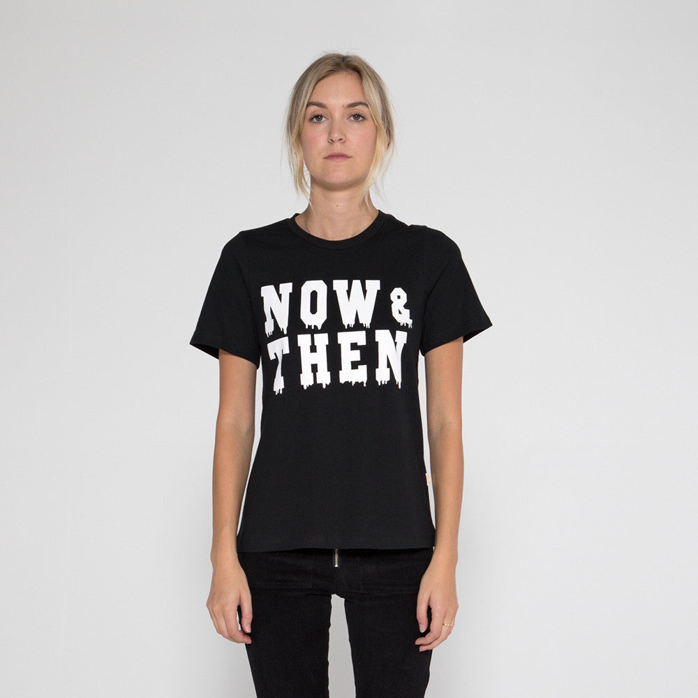 Now & Then Daily Tee / Rocky - Black