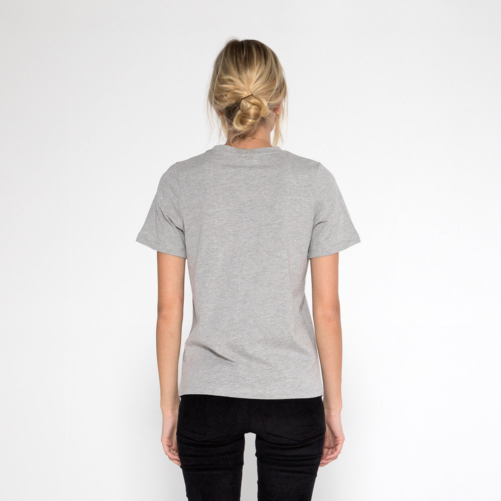 Now & Then Daily Tee / Curved College Grey Marle
