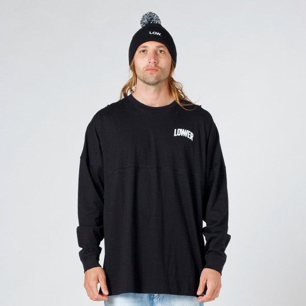 Lower Drop L/S Tee / Graduate - Black