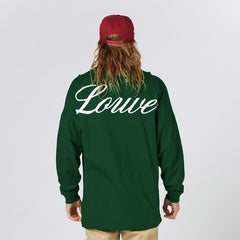 Lower Drop L/S Tee / Script - Green