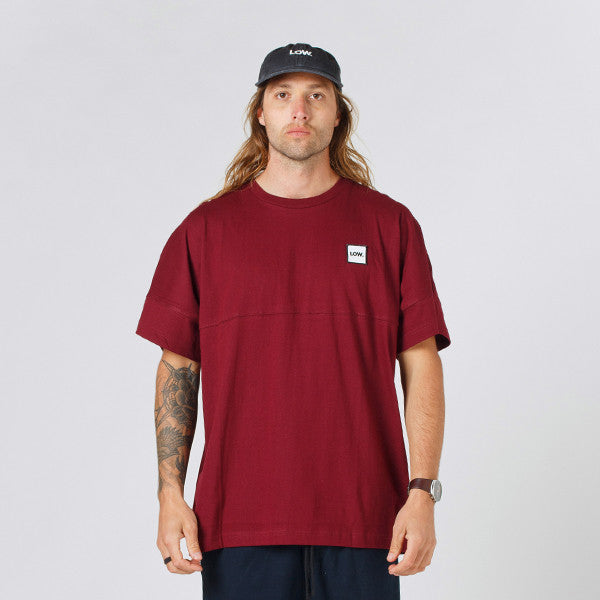 Lower Drop Tee / LOW - Maroon