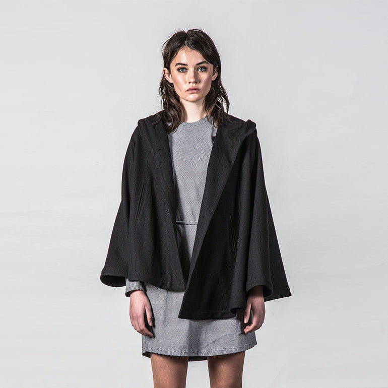 Thing Thing Forever Poncho - Black