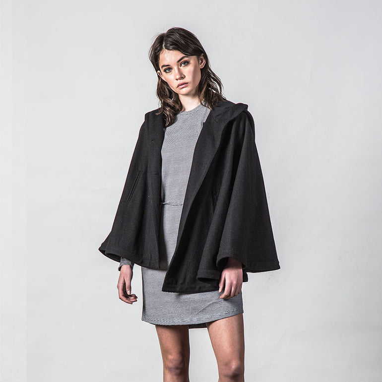 Thing Thing Forever Poncho in Black
