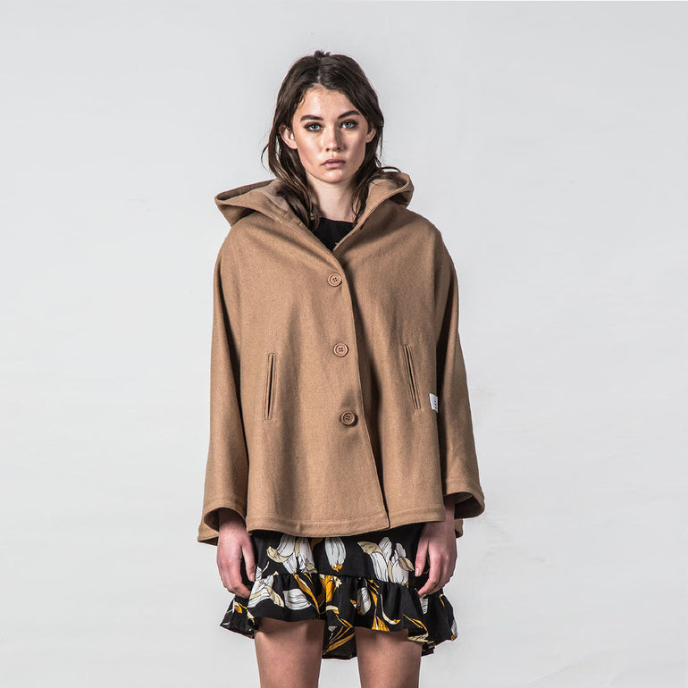 Thing Thing Forever Poncho in Tan