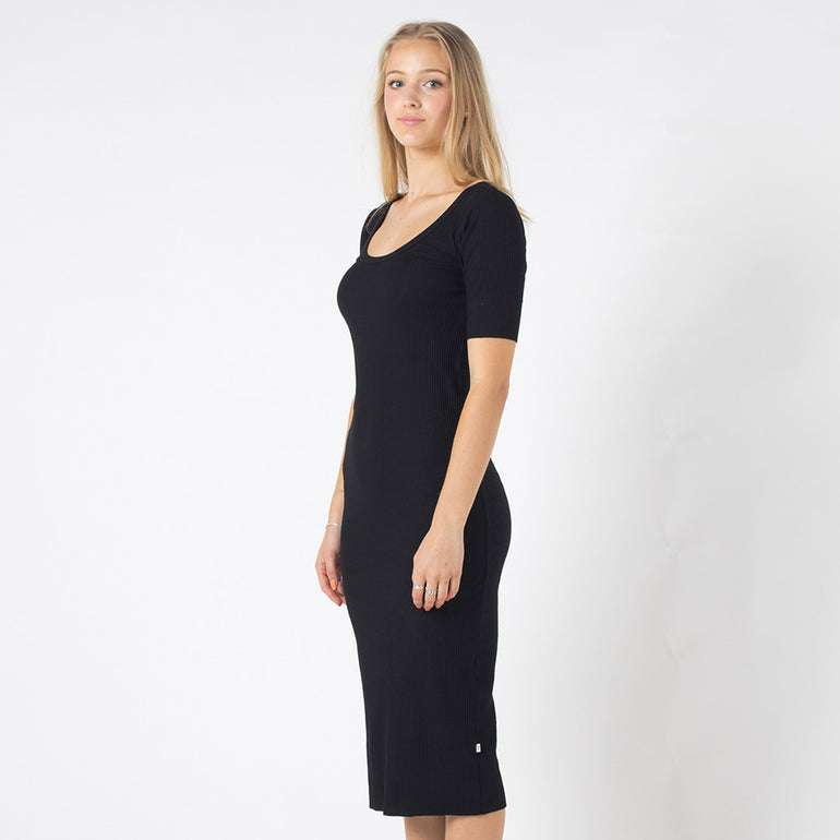 Five Each Back Keyhole Dress in Black